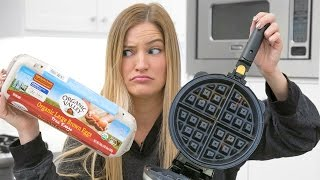 Making an Omelette in a Waffle Maker - What could go wrong?