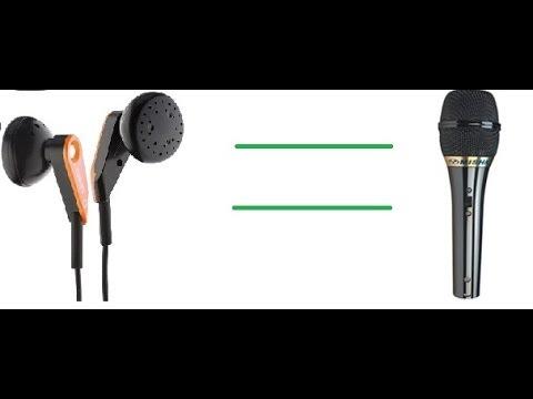 Как сделать из наушников от телефона микрофон