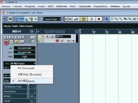 grabar midi en cubase SX con nuestro sintetizador,teclado,modulo midi ...