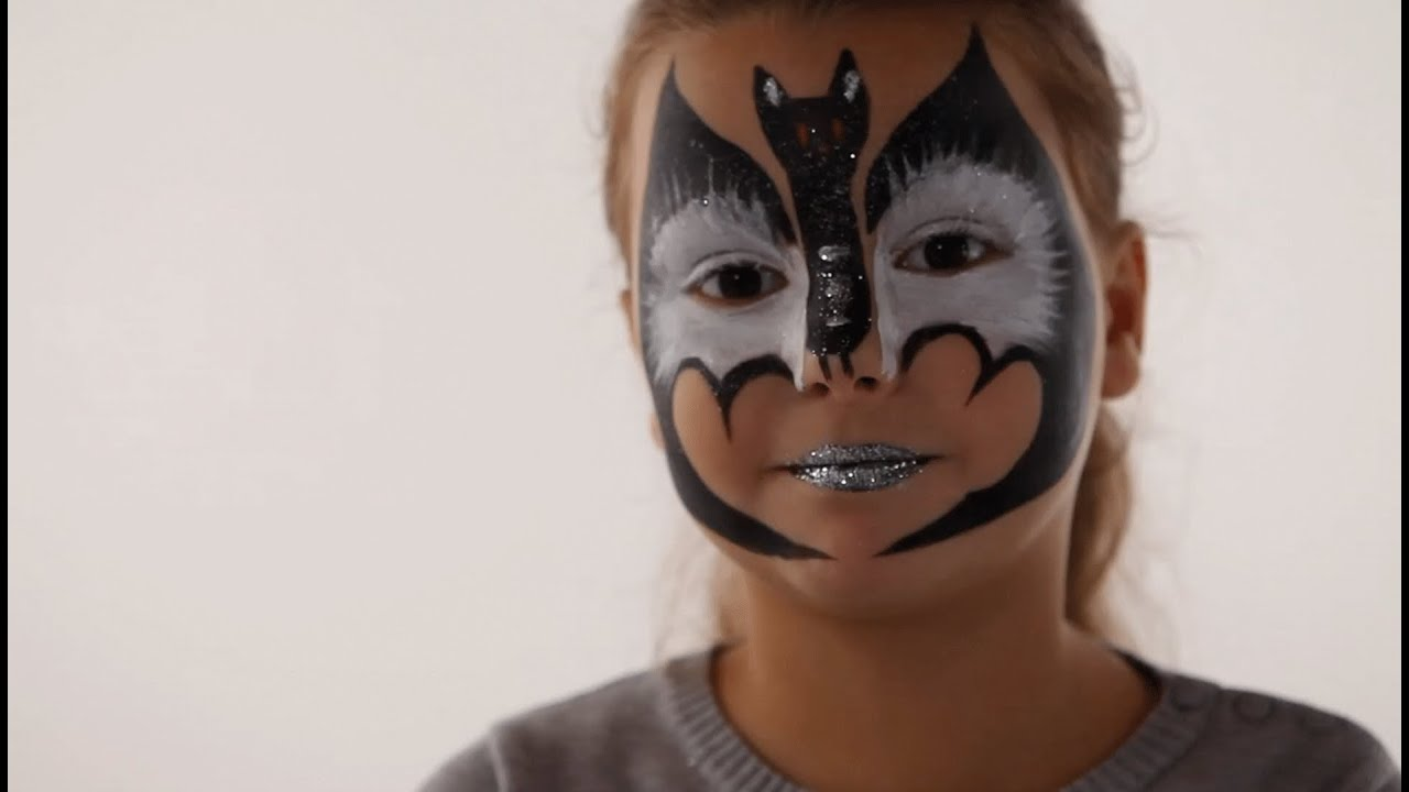 Maquillage Chauve Souris - Tutoriel maquillage enfant facile - YouTube