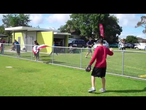 Baseball NZ - Behind the Scenes: Nick Hundley (Padres) teaches outfield skills