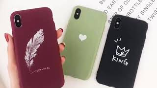 Luminous Silicon Case for iPhone X XS XR XS MAX 8 6 6S 7 Plus Cartoon Love Heart Feather Crown