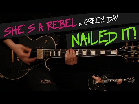 She`s a Rebel - Green Day guitar cover by GV + chords