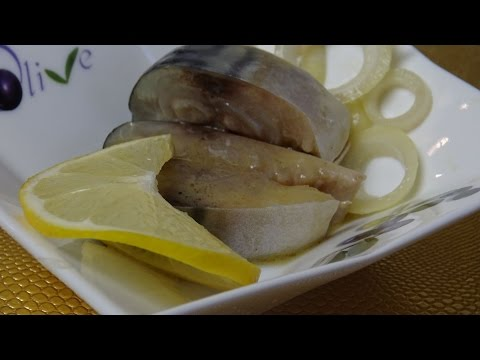 Как сделать скумбрию в горчично-пряной заливке.