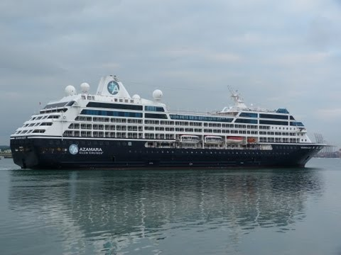 Azamara Quest & Balmoral, Cruise Ships early morning arrivals Southampton 10/06/13.