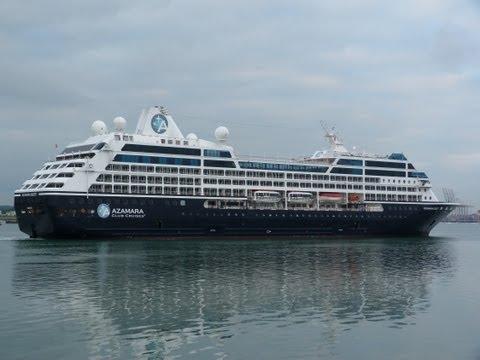 Azamara Quest & Balmoral, Cruise Ships early morning arrivals Southampton 10/06/13.