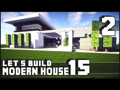Minecraft lets build modern house 15 part 2leave a like for Modern house 6x6
