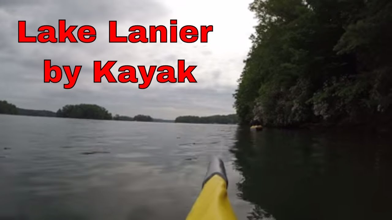 Kayaking on Lake Lanier in