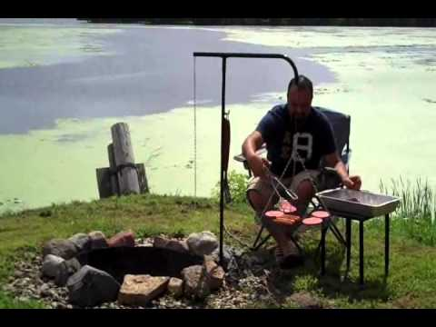 Campfire Grill Tripod Swing-away Campfire Grill