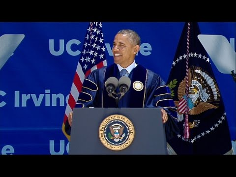 President Barack Obama at the 2014 UC Irvine Commencement