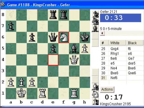 Chess World.net: Blitz #197 vs Gefer (2121) - Robatsch (modern) defense (B07) (Chessworld.net)