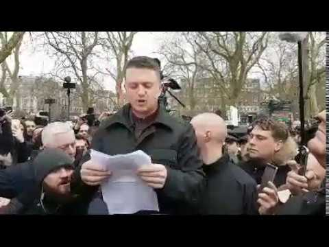 Speakers Corner Tommy Robinson  Martin Sellner Speech  Live