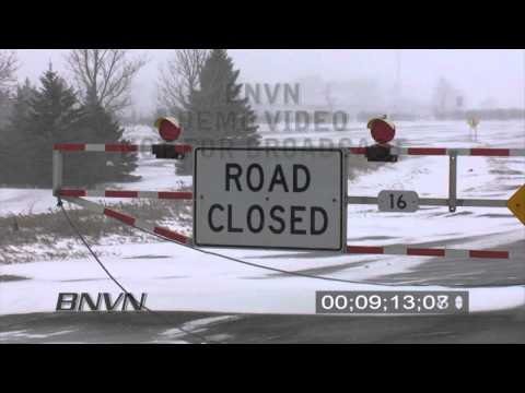 3/10/2009 Fergus Falls, MN Blizzard Stock Video Footage