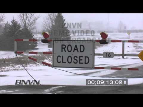 3/10/2009 Fergus Falls, MN Blizzard Stock Video Footage