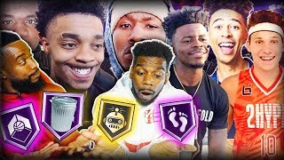 GIVING BADGES TO THE YOUTUBERS WE'VE PLAYED IN 1vs1 BASKETBALL!