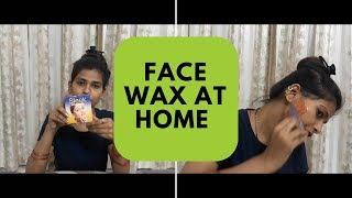 face wax at home karwachauth special part 1