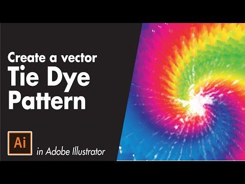 Tie Dye Vector Pattern Tutorial - Adobe Illustrator Tutorial for Beginners