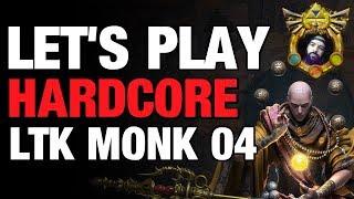 Diablo 3 - Hardcore Let's Play Monk LTK EP04 Gameplay Season 15
