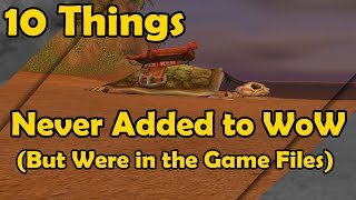 10 Things Never Added to WoW But Were in the Game Files (World of Warcraft)