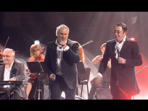 Юбилейный концерт Валерия Меладзе. На сцене Константин Меладзе, Григорий Лепс и др.