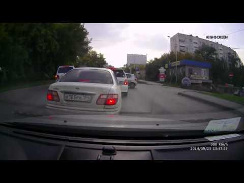 Авария в Новосибирске 23 09 2014