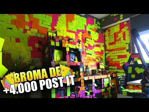 La BROMA de los 4.000 POST-IT!! MI NUEVA MEJOR PRANK [bytarifa]