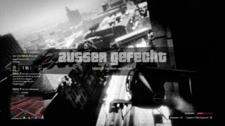 Grand Theft Auto V Online - 1 Insurgent pickup vs 3 Nightsharks & Buzzard