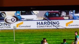 Harding Construction and Coresteel Buildings signage on Heartland Rugby TV