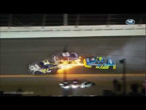 NASCAR Daytona Shootout 2012 crashes