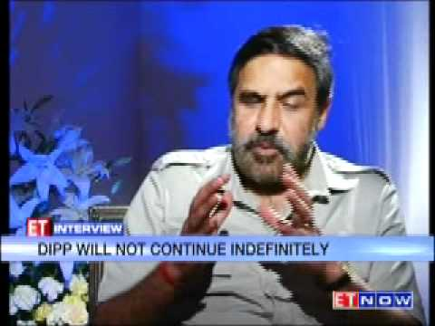 ET Interview with Anand Sharma - Part 1