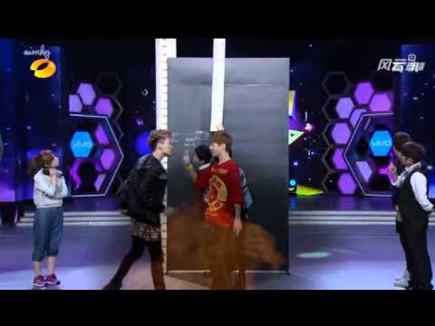130406 Super Junior M High Jump Game Happy Camp Kyuhyun Eunhyuk Henry Zhou Mi