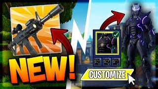 Fortnite: NEW THERMAL SCOPED RIFLE + CUSTOMIZABLE SKINS Gameplay! | New Update