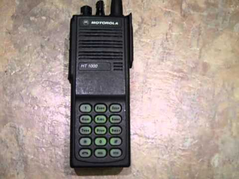 Motorola HT1000 VHF Up and Running