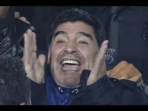 Napoli-Roma - L'arrivo di Maradona al San Paolo -1- (12.02.14)