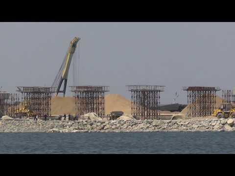 Керчь. Строительство Моста. 23.07.2017г