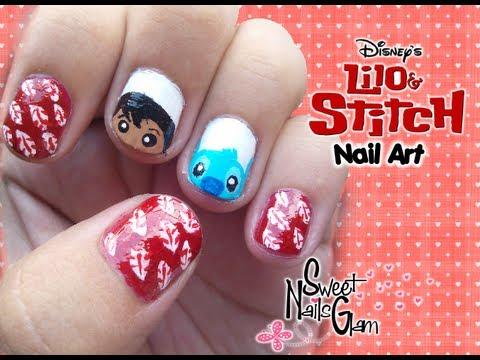 Nail Art Super Easy Lilo amp Stitch Design For Short