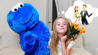 The Wedding of Cookie man Pretend play Funny Kids Videos