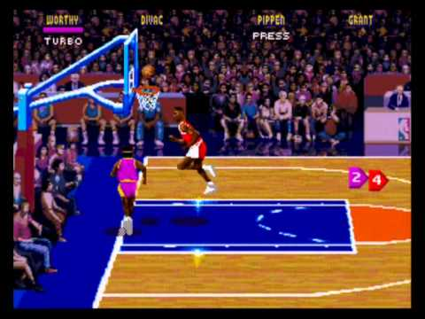 NBA Jam - NBA Jam (GEN) Laker VS Bulls HD - Vizzed.com Play - User video