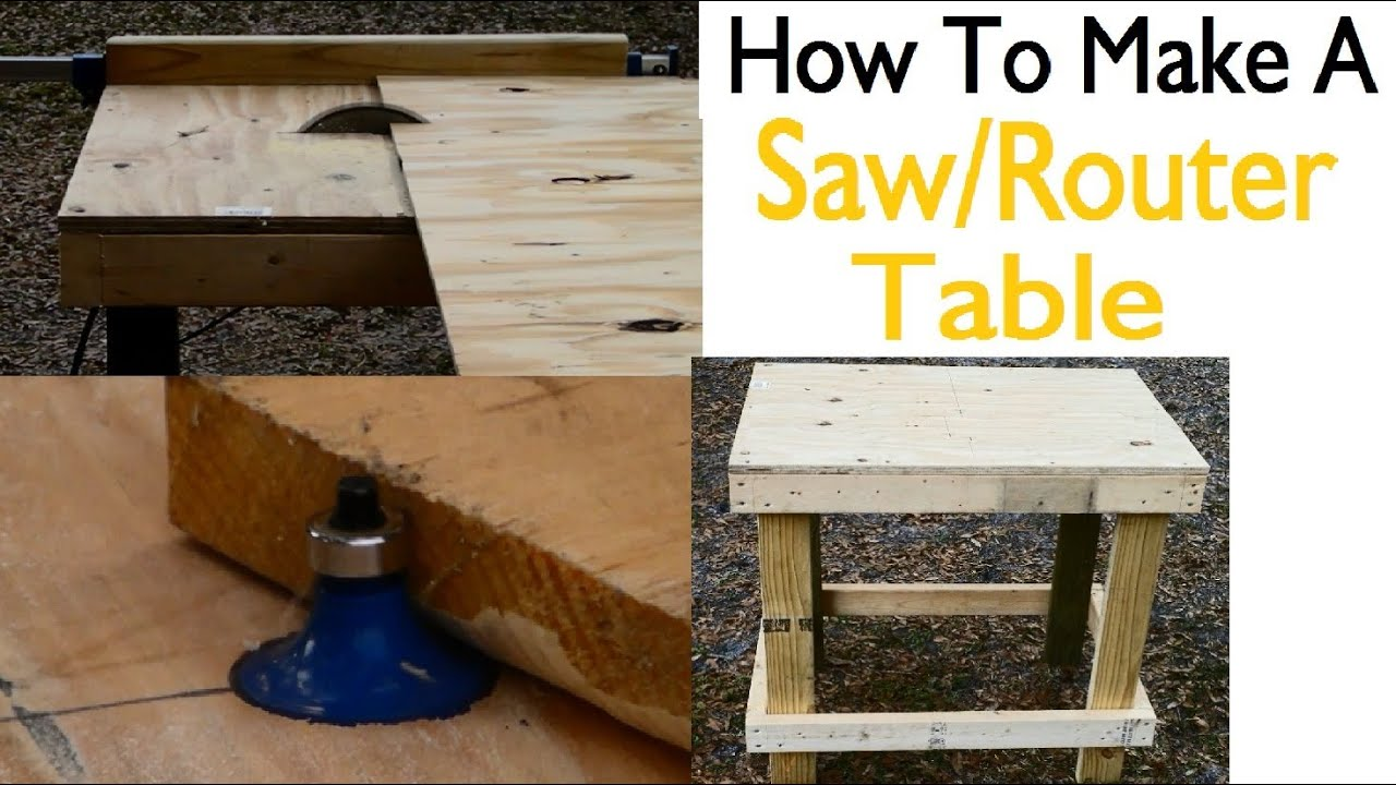 How to build a saw router table youtube for How to make a router table