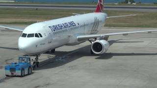 Turkish Airlines TC-JRI A321-232 - Pushback and Start Engine - Tzx _LTCG Trabzon Airport