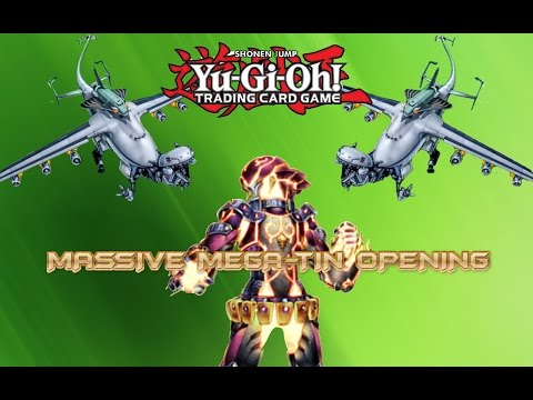 Massive Yugioh Mega Pack Tin 2014 3 Case 36 Tin 108 Booster Pack Opening Extravaganza!! video