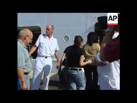 WRAP Americans, Belgians, Australians leaving, British Chinooks landing at harbour