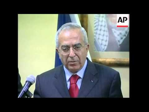 French FM, Quartet envoy Blair and Palestinian PM presser