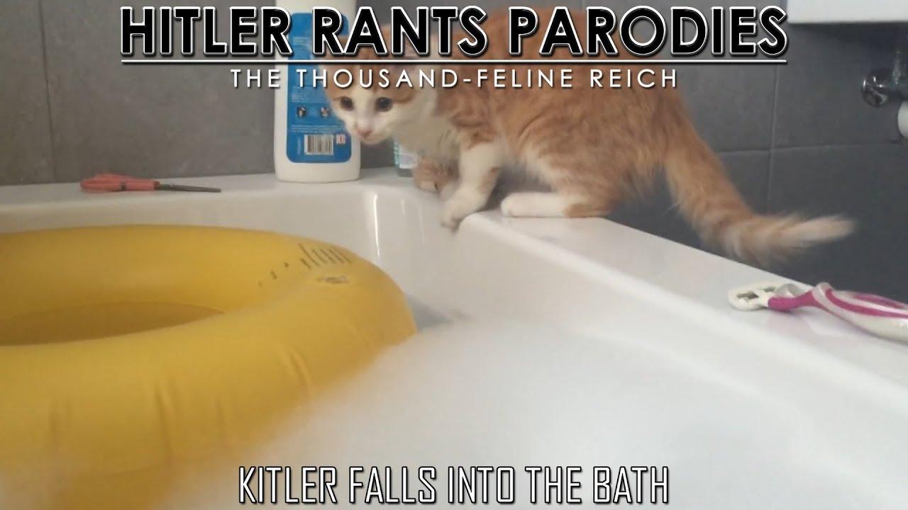 Kitler falls into the bath