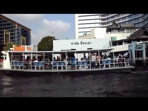 Boat riding in Bangkok river Thailand