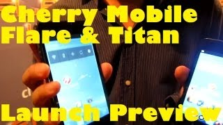 Cherry Mobile Flare & Titan Launch Preview - Dual-Core & Ice Cream Sandwich Droids For PHP4k/6.5k