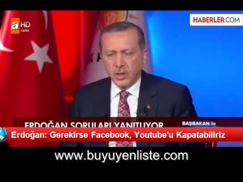 Erdogan, 06 March 2014: Turkey might have to ban Facebook and YouTube