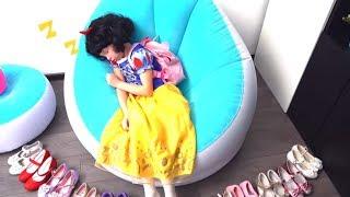 Alice Pretend Princess & Late for School Morning Routine