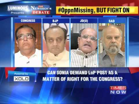 The Newshour Debate: Political fight over key Parliamentary post - Part 1 (13th June 2014)
