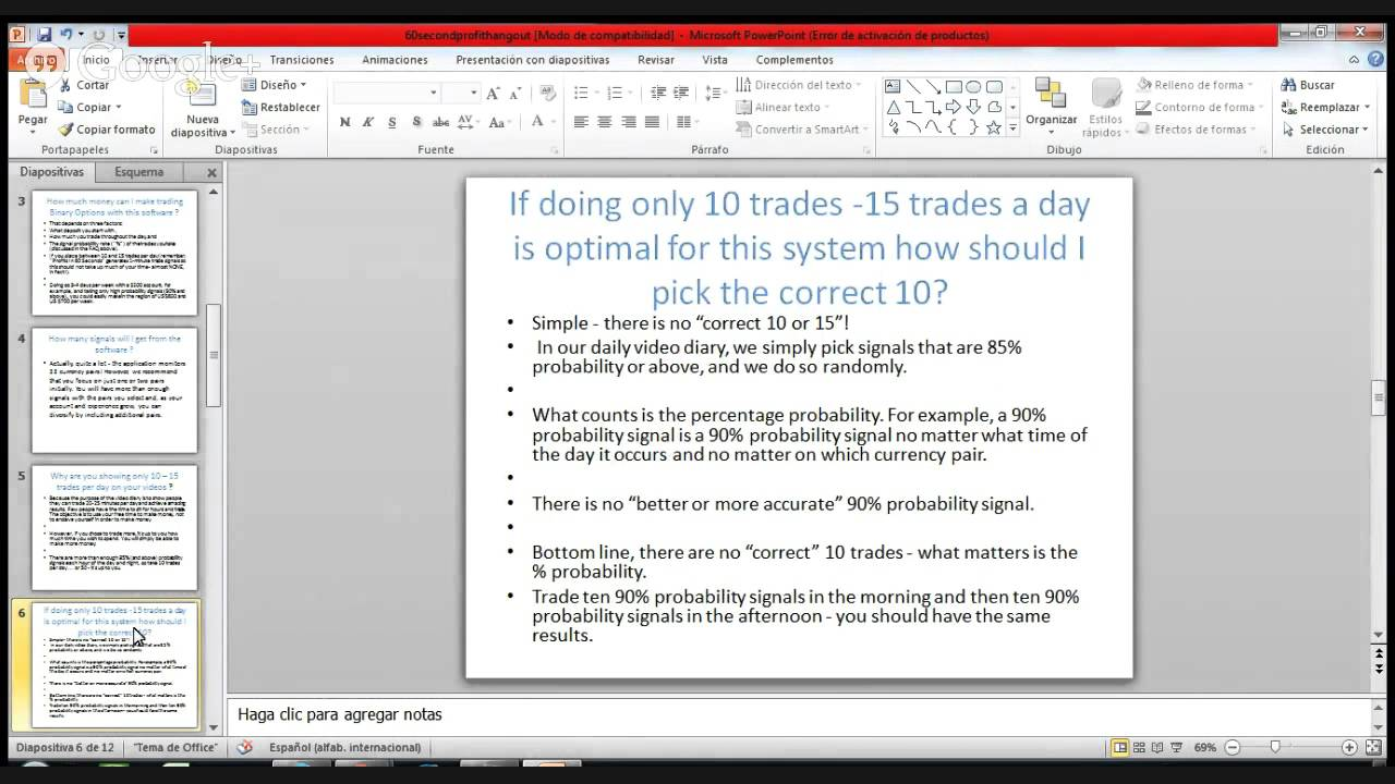 Option trading software